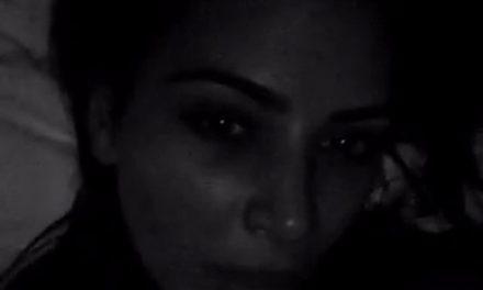Kim Kardashian Snapchat desde la cama con Kanye West