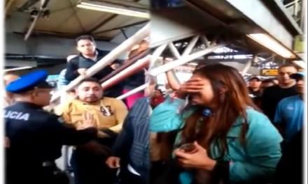 Acusan a tipo de manosear a mujer en el metro Oceanía, es detenido (VIDEO)