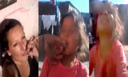 ¡Estremecedor!… Mujer obliga a pequeñita de 6 años a fumar marihuana
