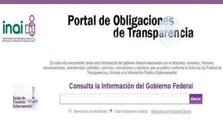 Mañana Jueves entra en operaciones la Plataforma Nacional de Transparencia