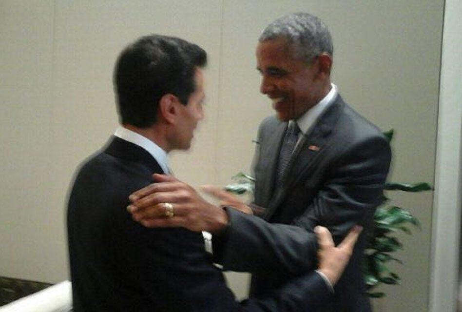 EPN saluda a Obama en el G20
