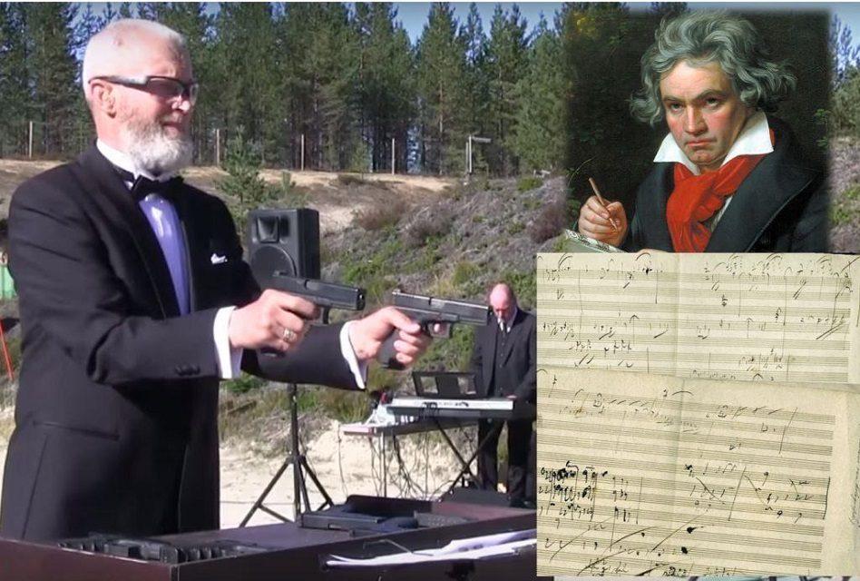 """Interpreta el """"Himno a la alegría"""" de Beethoven…¡A balazos!"""