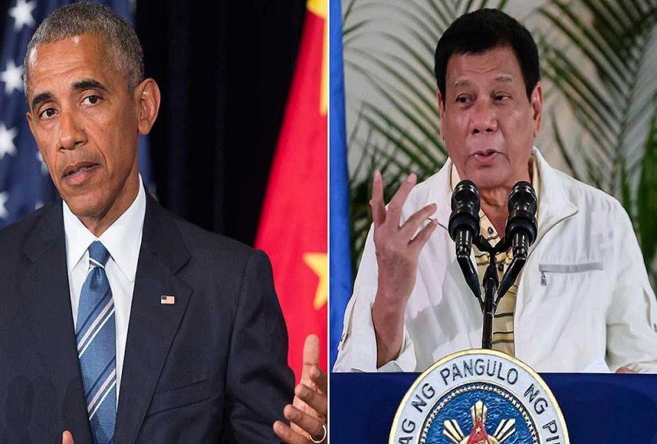 Presidente filipino se va contra Obama