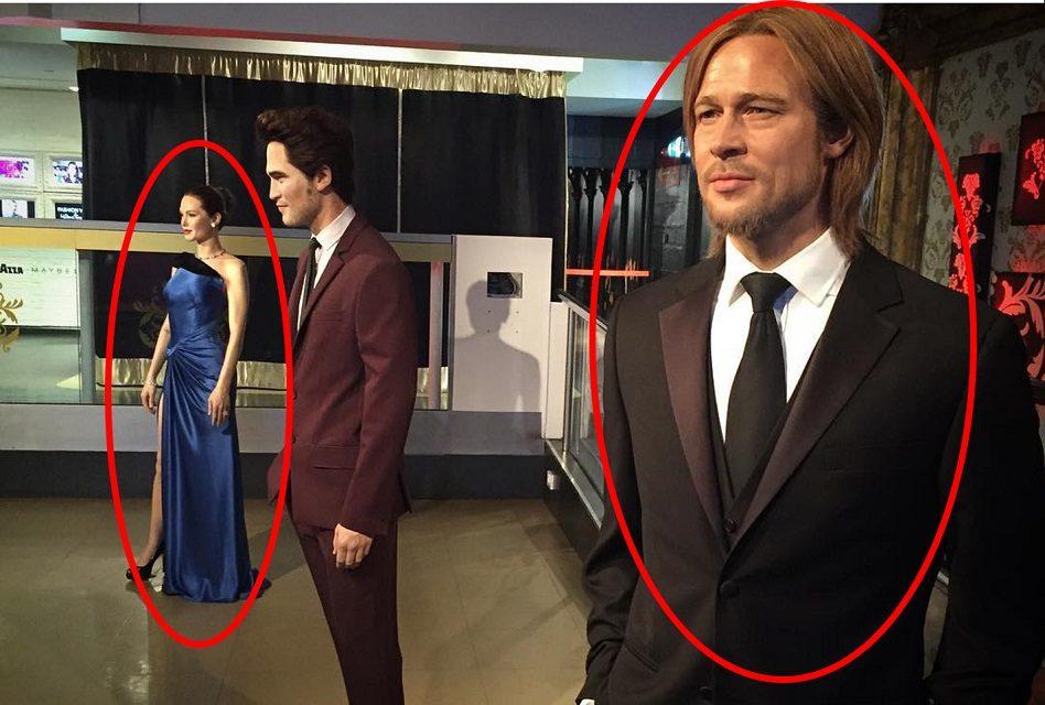 ¡Museo separa las figuras de cera de Brad Pitt y Angelina! (como en la vida real)
