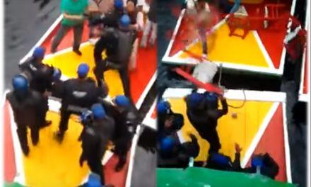 ¿Piratas del Carib… Xochimilco? pleito con policías en trajineras de Xochimilco