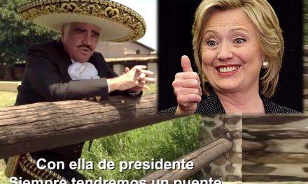 Escucha el corrido de Hillary Clinton ¡Y lo canta Don Chente Fernández!
