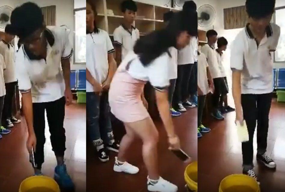Maestro obliga a sus alumnos a tirar sus celulares al agua… Por usarlos en clase