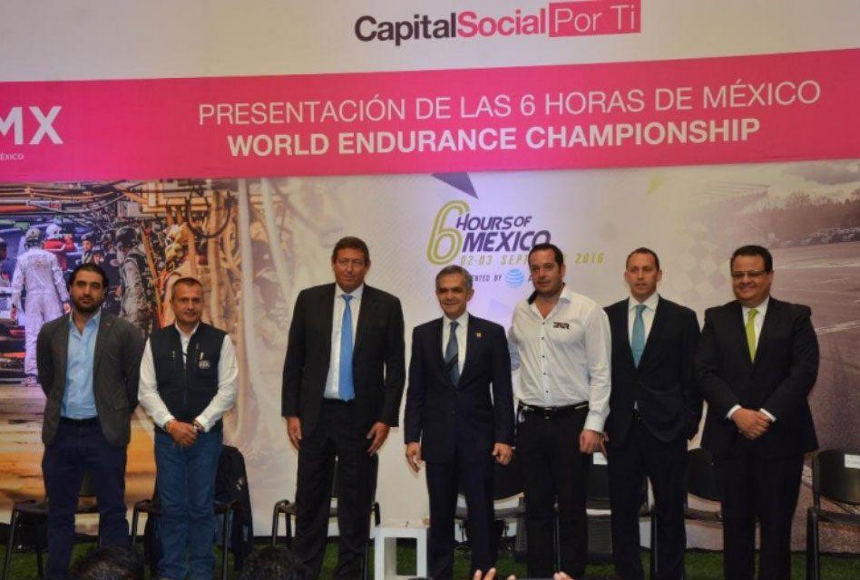"Presenta Jefe de Gobierno ""Las 6 horas de México, FIA WORLD ENDURANCE CHAMPIONSHIP"""