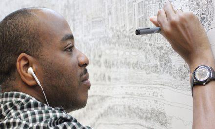 Stephen Wiltshire empieza con su dibujo de la CDMX