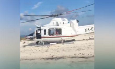 Denuncian llegada de Gamboa Patrón en helicóptero a zona protegida
