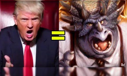 """¡Separados al nacer! Trump es idéntico en todo al Dinosaurio """"Mr Richfield"""""""