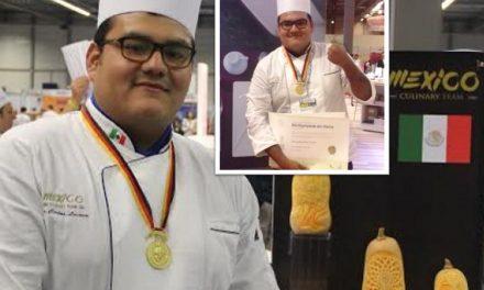 ¡Qué buena noticia! Joven mexicano gana medalla de oro en la Olimpiada Culinaria de Alemania