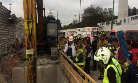 Se registra derrumbe en Paseo de la Reforma, CDMX