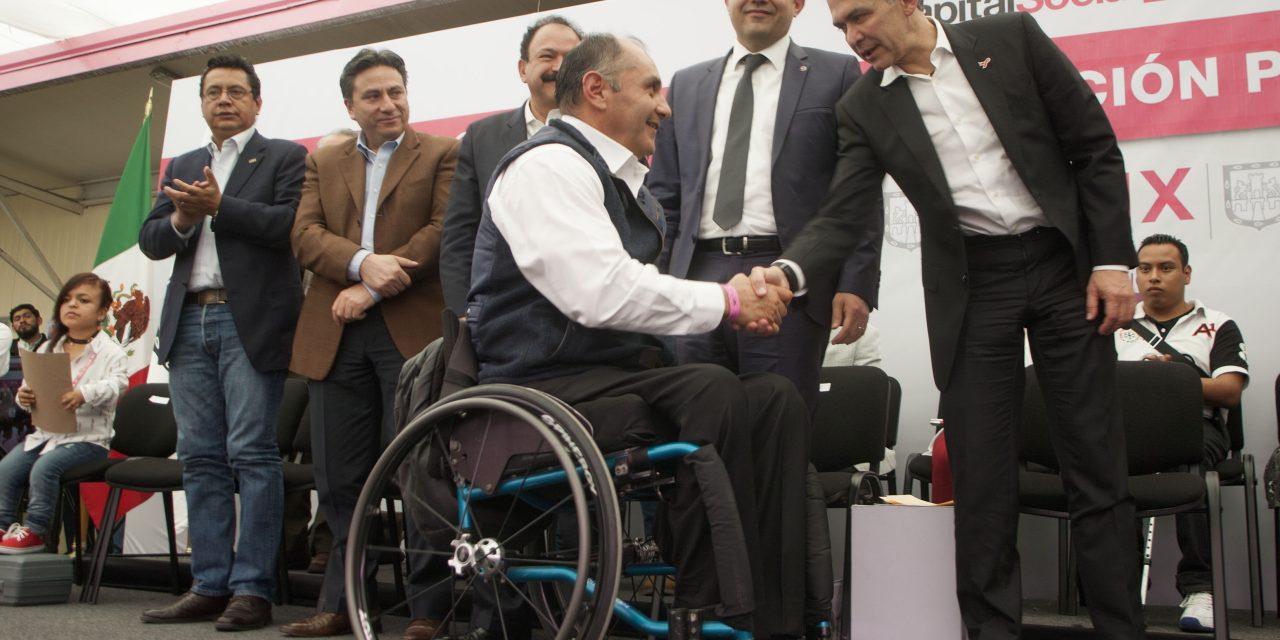 Refrenda CDMX compromiso para apoyar a personas con discapacidad