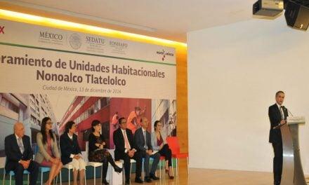 Arranca mejoramiento de Unidades Habitacionales Nonoalco-Tlatelolco