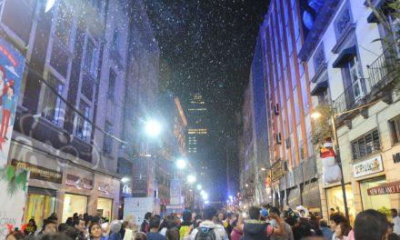 Nieve en calle Madero