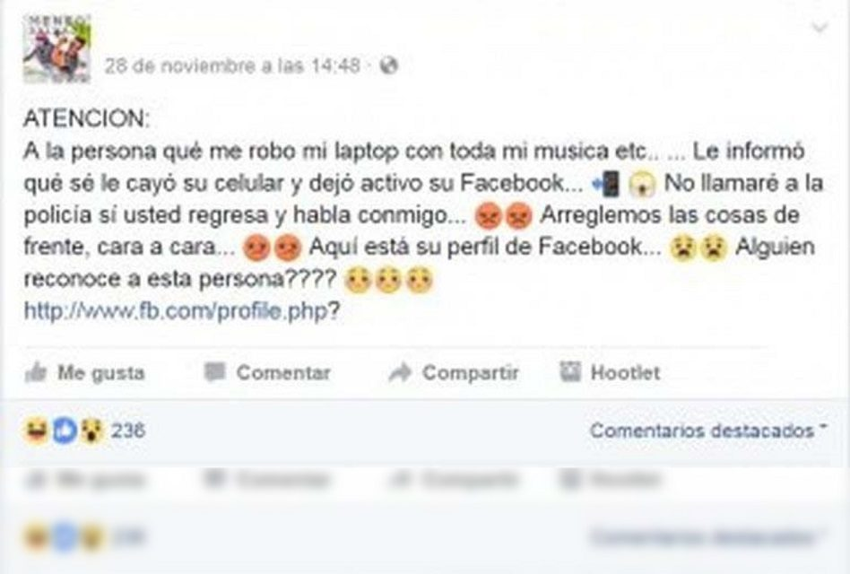 """""""A la persona que me robó mi laptop"""": Mujer muere por broma en Facebook ¿Ya te llegó?"""