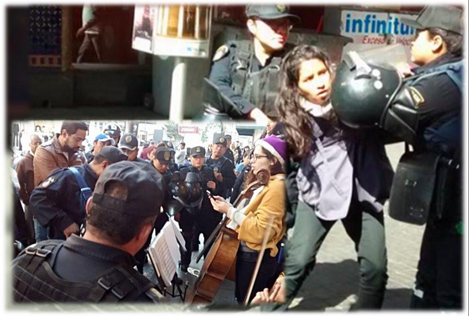 """Unos 20 policías detienen a """"peligroso"""" cuarteto de música femenino por tocar en la calle"""