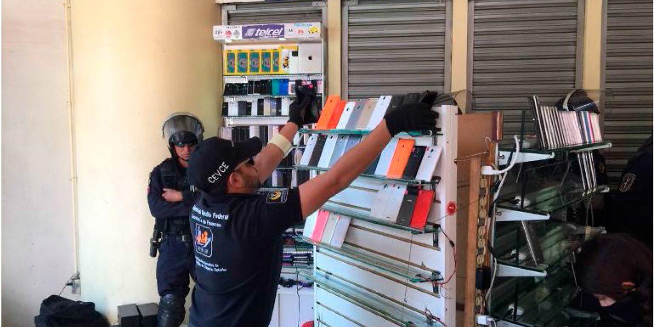 Operativo contra vendedores de celulares robados