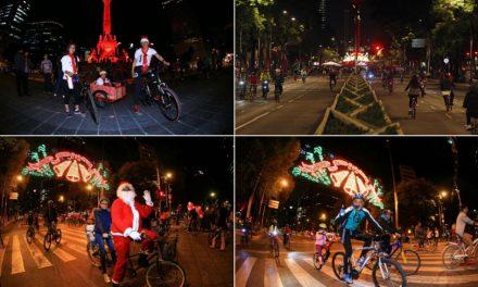 Participan 35 mil personas en último Paseo Nocturno en Bicicleta del año