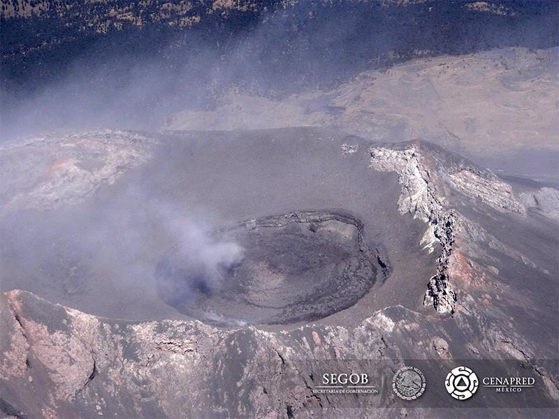 Imagen: domo de lava No. 71 que aún permanece emplazado en el cráter del Popocatépetl.