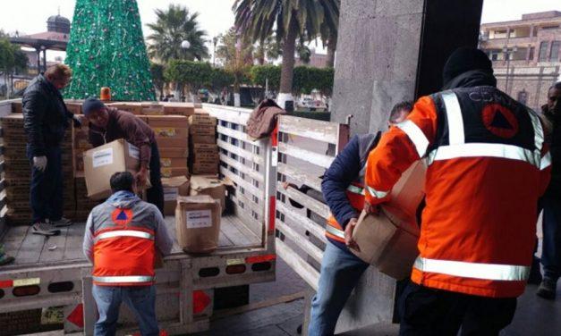 Donan capitalinos más de 3 toneladas de ayuda humanitaria para afectados por explosión en Tultepec