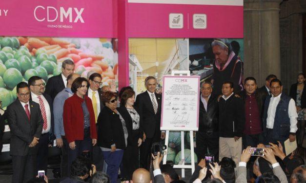 Anuncia Jefe de Gobierno convenio para mantener precios bajos de productos de la canasta básica en CDMX