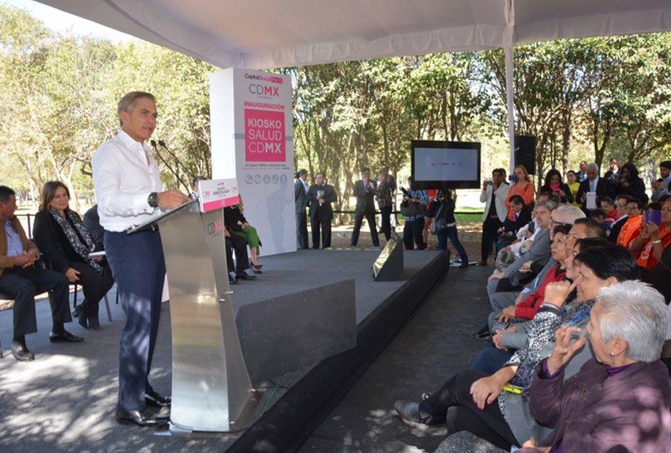 """Se refuerza estrategia de servicios médicos en la CDMX con """"Kiosko de la Salud"""""""