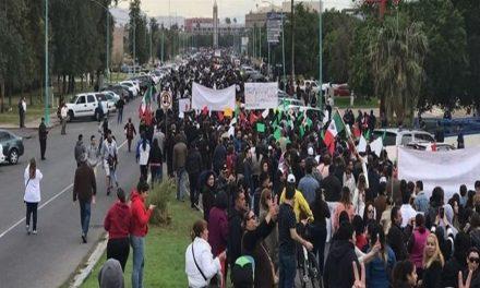 Masiva protesta contra gasolinazo en Mexicali y privatización del agua