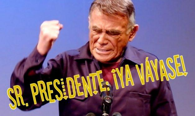 """Sr. Presidente: ¡Ya váyase!"" Dura y fuerte crítica de Héctor Suárez a EPN"