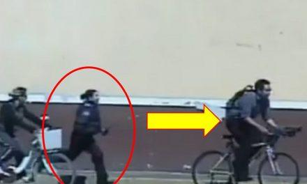 ¡Héroe de carne y hueso! Mujer policía persigue a pie y alcanza a ladrón de bicicleta