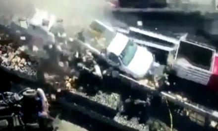 Arrollan a reporteros que cubrían accidente en autopista México-Toluca; un muerto y varios heridos