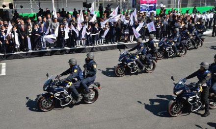 Entrega de vehículos y equipo para protección ciudadana en las 16 delegaciones