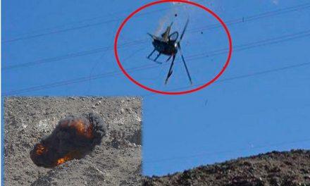 Helicóptero se desploma y explota con rescatistas ¡Se enredó con cables de alta tensión!
