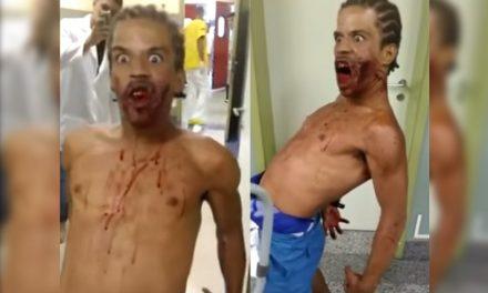¡Escalofriante video! Le disparan en el rostro y sigue como si nada ¿Posesión demoníaca?