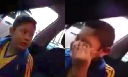 Niño rompe en llanto porque su papá lo llevará por vez primera a un partido del Tigres