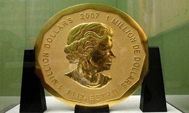 Roban moneda de oro de 1 mdd; pesa 100 kilos