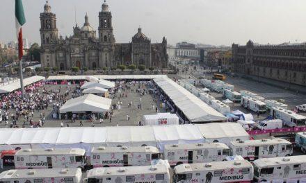 """Instala Gobierno de CDMX """"Feria de la Salud"""" en Zócalo Capitalino para reforzar atención médica en la población"""