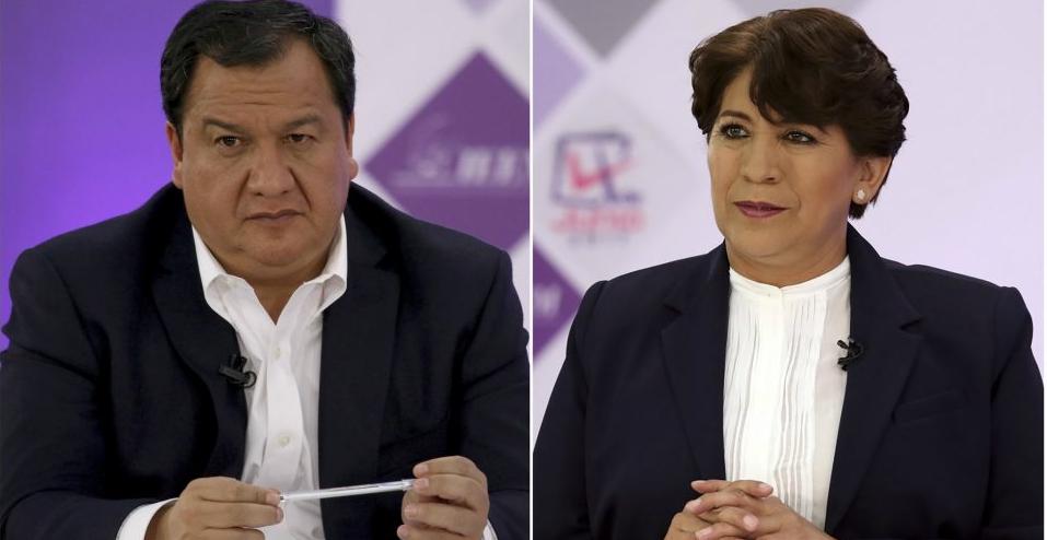 Declina Óscar González a favor de Delfina Gómez