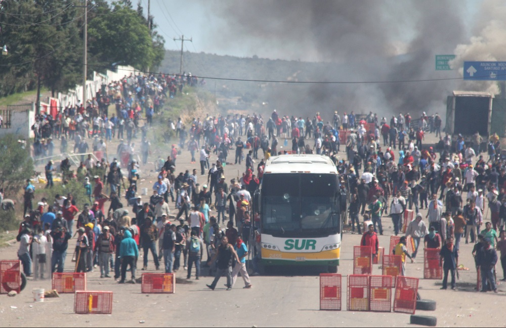 Se cumple un año del caso Nochixtlán; realizan movilización
