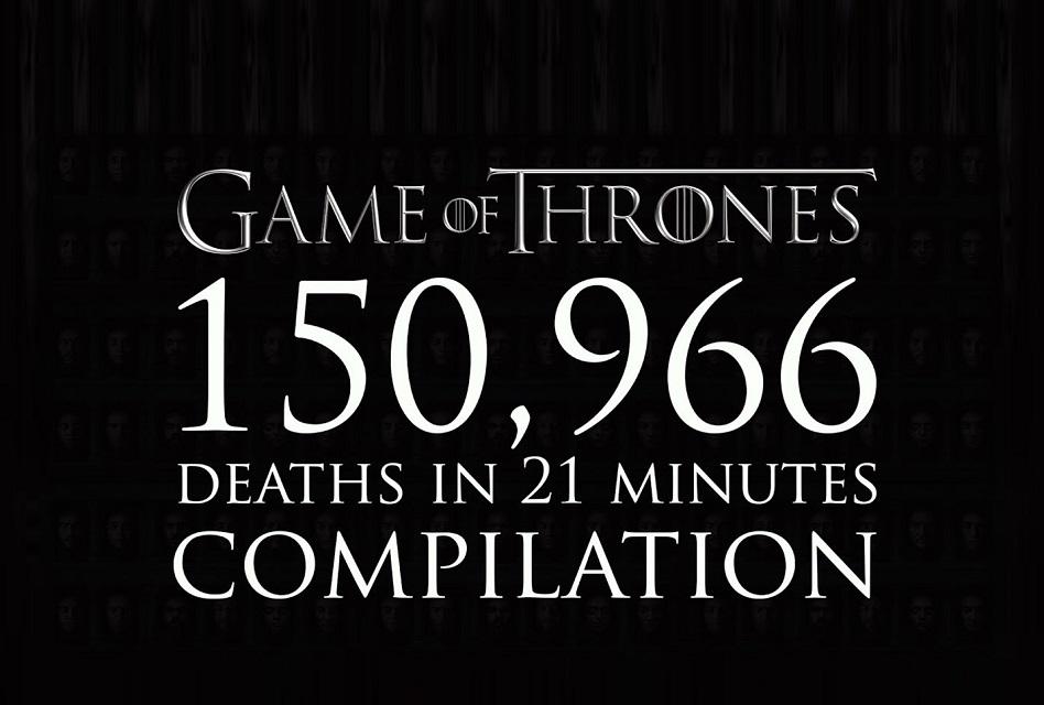 Las 150.000 muertes en Game of Thrones en 20 minutos
