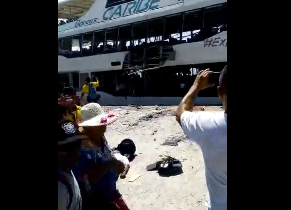 [VIDEO] Explosión en un ferry de Playa del Carmen: 13 heridos