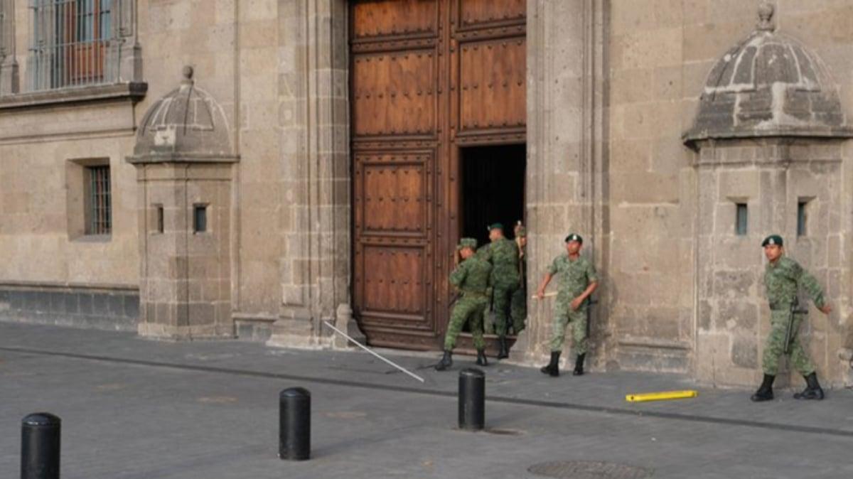 Se registra balacera en inmediaciones de Palacio Nacional